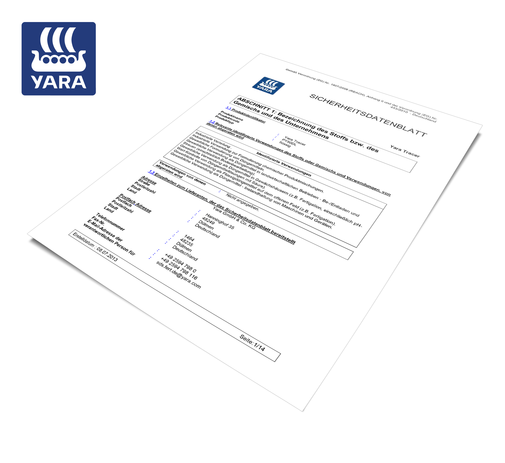 YaraVita-Tracer_Sicherheitsdatenblatt