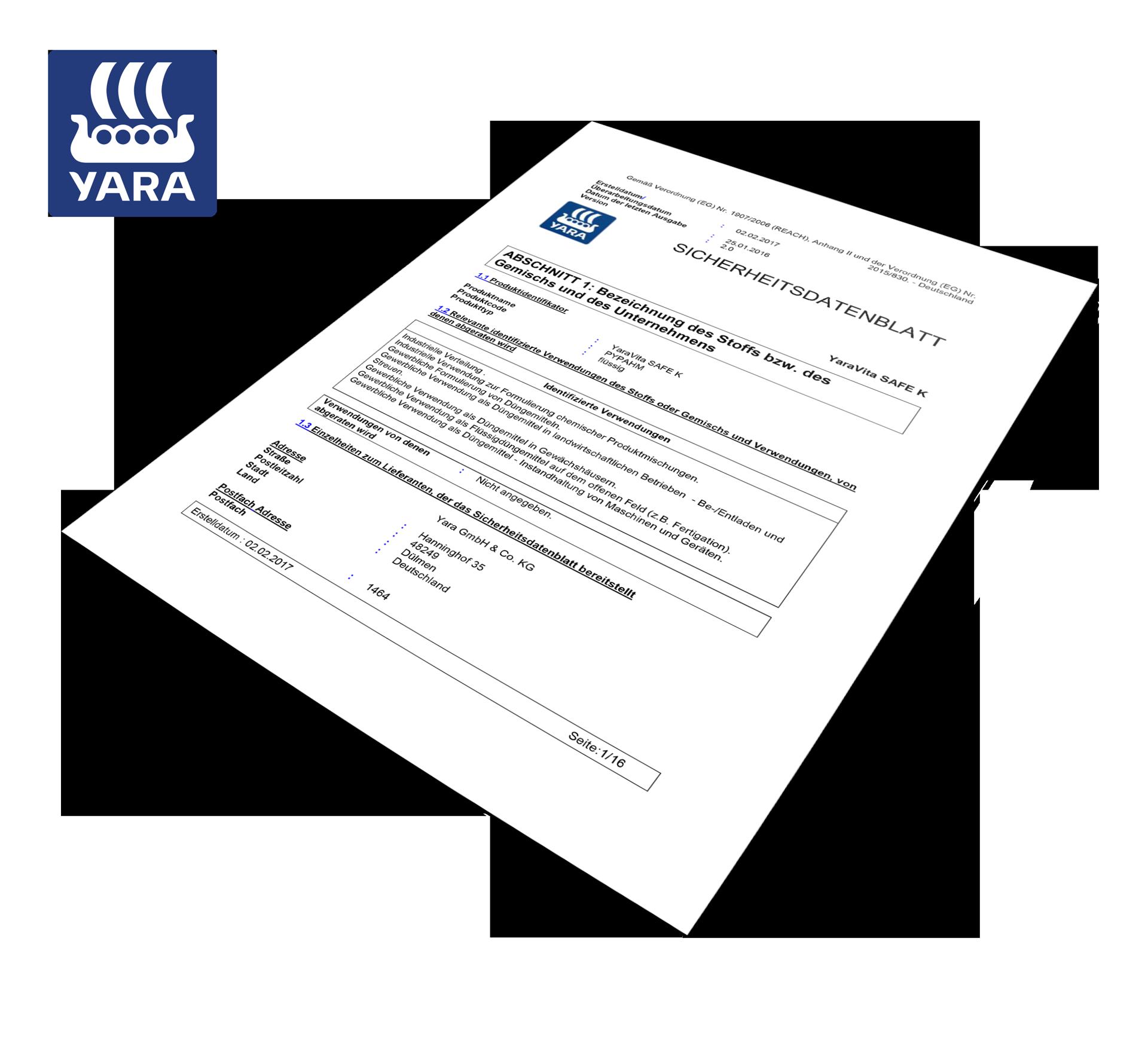 Yara_Vita_Safe-K_Sicherheitsdatenblatt