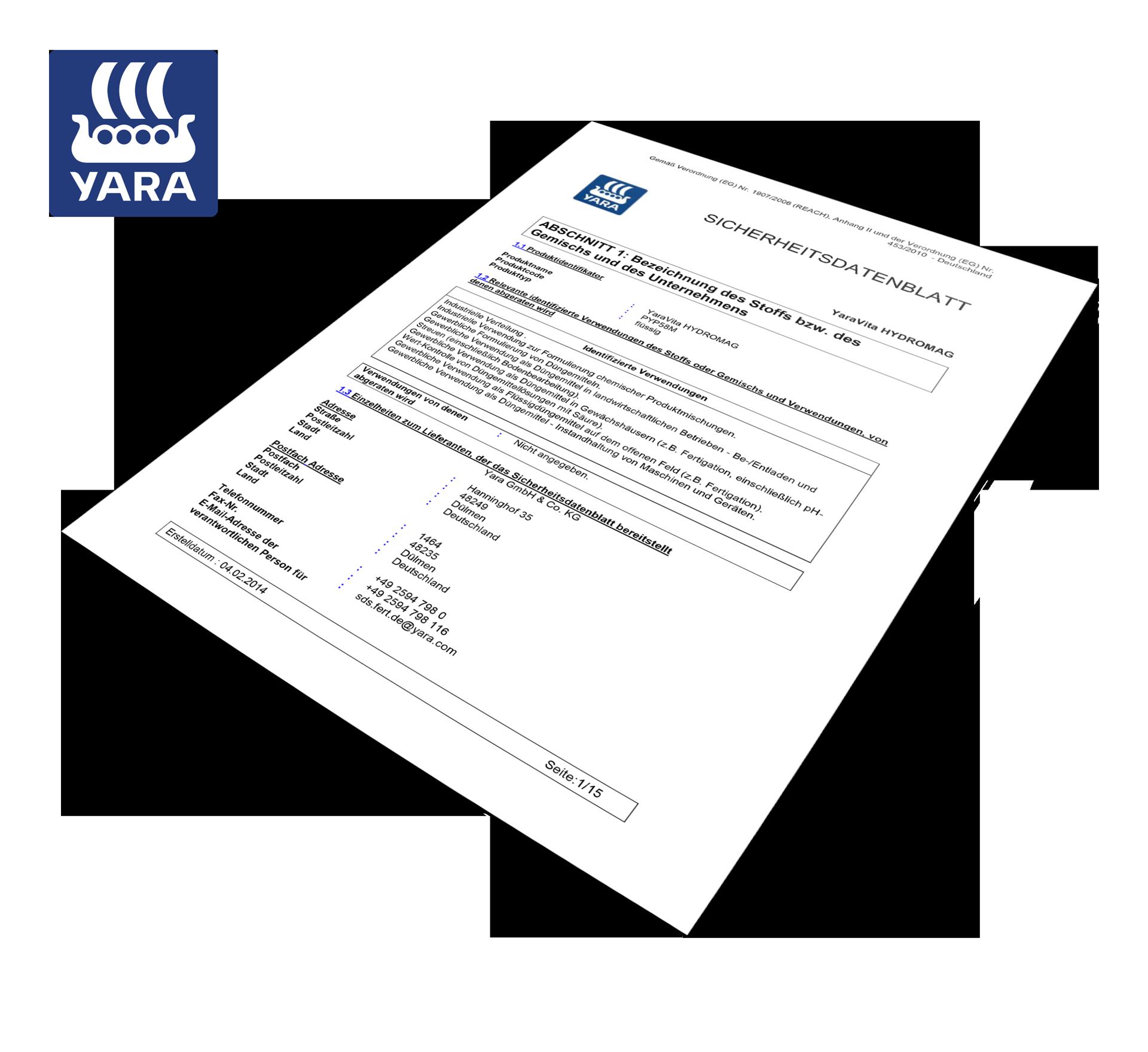Yara_vita_Hydromag_Sicherheitsdatenblatt